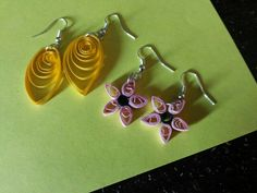 Quilling earings .....