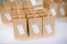 Favours - small bags of tea, packaged in Kraft paper bags with some bakers twine and a mini peg along with a label that read 'Brew with Love'.