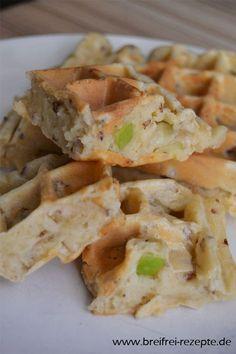 Zutaten: 2 Eier 3 EL Rapsöl 150 g Dinkelmehl 50 g geriebener Käse (Emmentaler) 75 g Champignons (5-6 Stück) fein gewürfelt Alle Zutaten zu einem Teig verrühren und in einem leicht geölten Waffeleisen gold- braun backen. ALTERNATIVE: -statt (oder zusätzlich) den Champignons kann man auch Brokkoli, Zucchini, Mais, Zwiebeln etc. hinzufügen -zusätzlich kann man etwas Dinkelmilch hinzufügen um die Konsistenz flüssiger zu bekommen -statt dem Dinkelmehl kann man auch Weizenvollkornmehl nehmen…