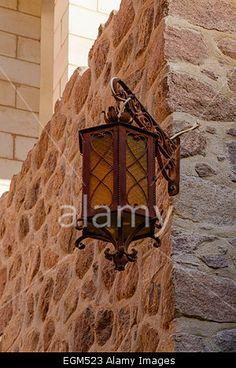 Inside St. Catherine's monastery, Sinai, Egypt. St Catherine's monastery, Sinai Peninsula, lies at the foot of modern Mount Sina Stock Photo