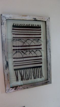 TELARES ENMARCADOS Couture, Lana, Creations, Weaving, Display, Frame, Interior, Projects, Wall Hangings