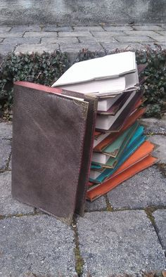 Couvre livre cuir - leather book cover by BalmoraLeathercraft on DeviantArt Leather Book Covers, Leather Books, Deviantart, Leather