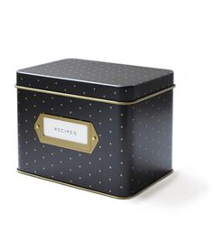 Polka Dot Tin Recipe Box, rifle paper co.