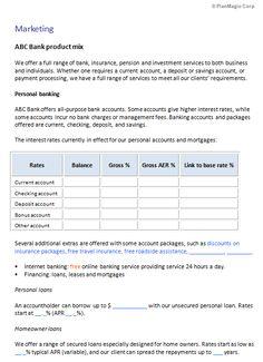 Internet service provider business plan template business bank business plan templates wajeb Choice Image