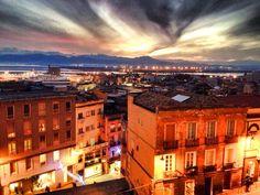 Cagliari. Vista dal Bastione di Saint Remy.