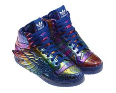 """Adidas ObyO Jeremy Scott JS Wings """"Rainbow Glitter"""" 
