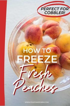 Don't throw out those peaches! Follow these steps to preserve this delicious summer fruit to make jams, cobblers, smoothies, or to satisfy a craving during the winter. Easy Homemade Desserts, Healthy Comfort Food, Frozen Vegetables, Frozen Fruit, Summer Fruit, Southern Recipes, Peaches, Preserve, Cravings