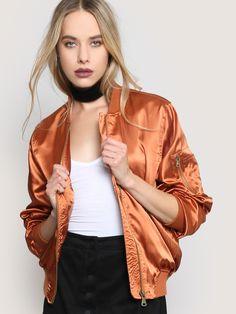Shine On Bomber Jacket - Copper - Gypsy Warrior