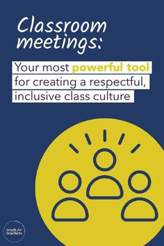 The premise is simple: holding a weekly class meeting keeps a group high-functioning by anticipating the group's ongoing needs to connect and solve problems. Here are a few ways how. Teaching Strategies, Teaching Tips, Class Meetings, Inclusion Classroom, Restorative Justice, Passive Aggressive, Positive Discipline, New Teachers, Classroom Management