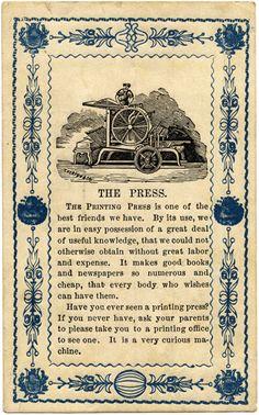 Cartaz impresso partir dos blocos. A ilustração é também feita em blocos e depois impressa como os caracteres tipográficos