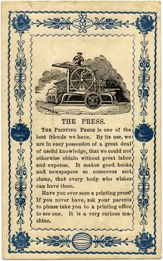 the printing press is your friend