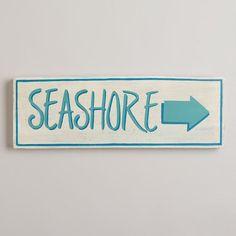 Seashore Sign @Cost Plus World Market >> #WorldMarket  Great Summer Getaway www.worldmarket.com/swa #SummerFun