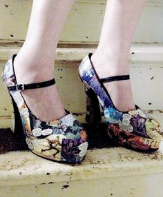 Doctor Who Comic Book Shoes