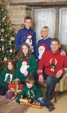 Knit classic Christmas jumpers: eight free knitting patterns :: allaboutyou.com