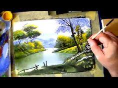 Как нарисовать пейзаж гуашью для начинающих. Тропические мотивы - YouTube
