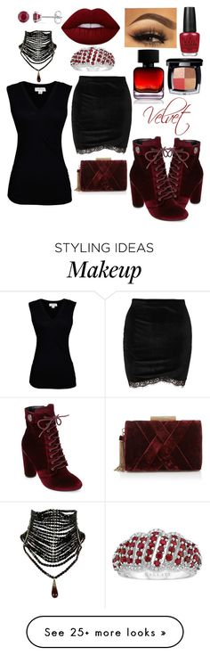 """Celebrate Our 10th Polyversary!"" by kmrichardson20 on Polyvore featuring Catherine Catherine Malandrino, Velvet by Graham & Spencer, Allurez, Sondra Roberts, Lime Crime, OPI, The Collection by Phuong Dang, Chanel, polyversary and contestentry"