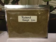 Thyme, Oregano, Rosemary, or Basil. ~ Rubbed Sage ~ Rubbed Sage ~ Rubbed Sage ~. Turmeric Powder: 10 oz. ~ Rubbed Sage ~ Rubbed Sage ~. Turmeric Powder: 4 oz. Thyme: 2 oz. In this order you will receive a, 1 oz. | eBay!