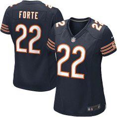 NFL Women's Elite Nike NFL Chicago Bears #22 Matt Forte Team Color Blue Jersey  $109.99
