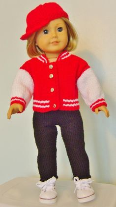 American girl doll Take me out to Set  - via @Craftsy