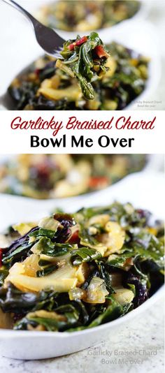 Garlicky Braised Cha