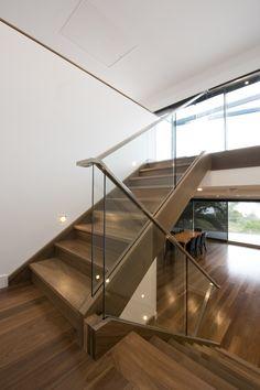 Stairs | Staircase | Glass Balustrade | Timber | Stainless Steel Handrail | Lighting | Flooring | Interior Design