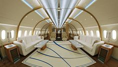 "A Boeing 787 ""Dreamliner"" VIP jumbo jet with a custom interior design and exterior paint scheme... This has ""Robb Report Ultimate Gift"" written all over it."