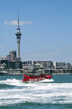 Jetboating on the Auckland Harbour