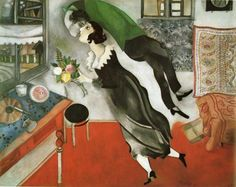 "Mark Chagall ""L'Anniversaire"", 1923 – $16.3 million. It's curious that New York's famous MOMA have had exactly the same painting since 1949, only painted in 1915 and entitled ""Birthday"". It's not sure what the artist meant to say by this."