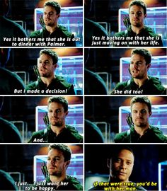 GO AND TELL HER WHAT EXACTLY DO YOU BOTHER WITH!!!!! TELL HER!! DONT KEEP THESE WORDS FOR YOURSELF!!! OHHH GOD!!  MEN!!  #Olicity #Arrow #Season3