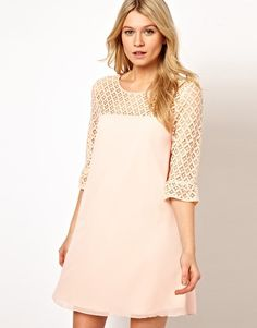 Enlarge Love Swing Dress With Lace Detail