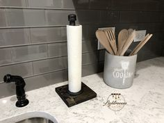 Toilet Paper Stand With Basket Shelf Floor Stand TP Holder Bathroom Niche, Bathroom Towels, Paper Towel Rolls, Paper Towel Holder, Paper Towels, Paper Organization, Kitchen Organization, Toilet Paper Stand, Galvanized Pipe