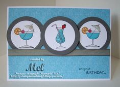 Cheers by stampinandstuff - Cards and Paper Crafts at Splitcoaststampers Happy B Day, Happy Hour, Birthday Fun, Birthday Cards, Chocolate Card, Wine Bottle Tags, Angry Cat, Bird Cards, Stamping Up Cards