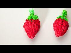 Wie erstelle ich eine 3D Erdbeere | Rainbow Loom Anleitungen