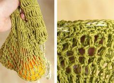 Groen(te) tasje, zo heb je geen plastic zakjes meer nodig voor fruit en groenten in de supermarkt. Leuk idee!