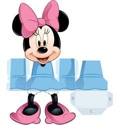 Recortable de minnie mouse para imprimir , Esta simpática muñeca de minnie mouse la podrás imprimir en papel o carton y después recortarla ... Mickey Minnie Mouse, Minnie Mouse Clubhouse, 3d Paper Crafts, Paper Toys, Diy Paper, Deco Disney, Disney Diy, Kids Birthday Themes, Diy Birthday