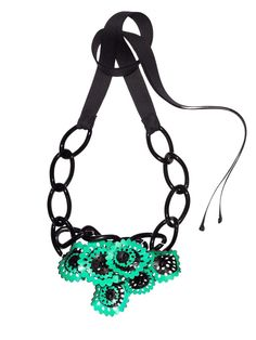 Intrigued to read this Marni necklace is partly made of recycled vinyl from old records.