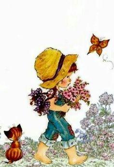 Sarah Kay Sarah Key, Photography Illustration, Cute Illustration, Love Rosy, Mary May, Decoupage, 3d Pictures, Holly Hobbie, Freelance Illustrator