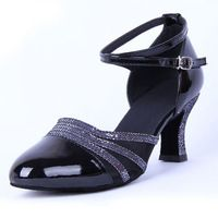 New Arrival Women's Ballroom Tango Latin Dance Shoes Indoor Suede Sole Closed Toes Salsa Shoes Sandals