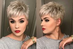 40 besten Frauen kurze Haarschnitte Thin Hair Cuts short cuts for thin hair pictures Short Hairstyles For Thick Hair, Haircut For Thick Hair, Short Pixie Haircuts, Hairstyles For Round Faces, Curly Hair Styles, Layered Hairstyles, Thin Hair Cuts, Short Hair Cuts For Women, Short Cuts