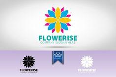 Flower Logo by eSSeGraphic on @creativemarket
