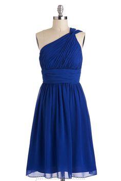 wholesale of Unique One Shoulder royal blue Chiffon Bridesmaid Dress 2014 BD0047 (3)