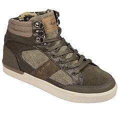 Voi Jeans Herren Paradigm hohe Trainers im Grün Textil- - http://on-line-kaufen.de/voi-jeans/voi-jeans-herren-paradigm-hohe-trainers-im-gruen