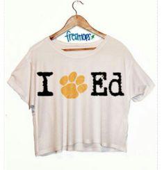 I Love Ed(Ed Sheeran) crop top from Freshtops