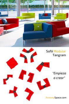 Sofá lounge modulable Tangram · Modular lounge sofa Tangram. Fabricado en Alemania por Interstuhl🇩🇪  Ganador del German Design Award 2016🏅 Totalmente personalizable con un diseño que permite elaborar cantidad de formas y posiciones para cada situación. Ideal para oficinas, halls, eventos y salas de espera. Más información en www.armonyspace.com