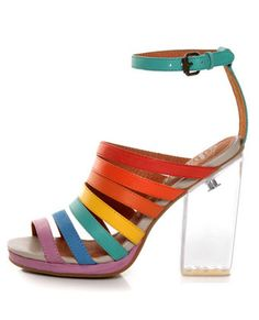 yay rainbow stripper heels are back and i'm finally old enough to wear them out of the house!