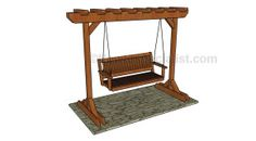 Outdoor Furniture | HowToSpecialist - How to Build, Step by Step DIY Plans - Part 2 Backyard Swings, Pergola Swing, Deck With Pergola, Pergola Plans, Diy Pergola, Diy Patio, Pergola Kits, Patio Roof, Pergola Ideas