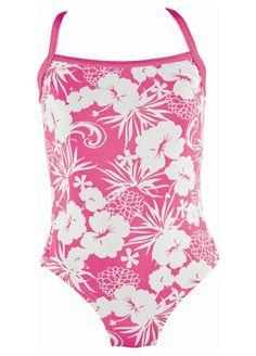 Pink Hawaiian Swimsuit Classic Range by Mitty James Kids Beachwear