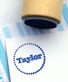 2712 Designs Dots Personalized Mini Stamp   #zulilybday