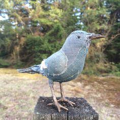 blue grey warbler - handmade cuteness