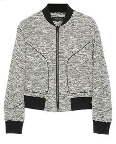 rag & bone Official Store, Aviator Bomber , black fl, Womens : Ready to Wear : Jackets & Blazers :